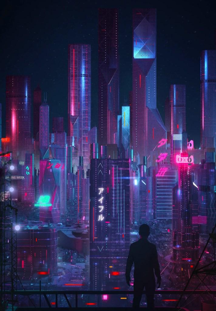 Futuristic cities concept art - Japan