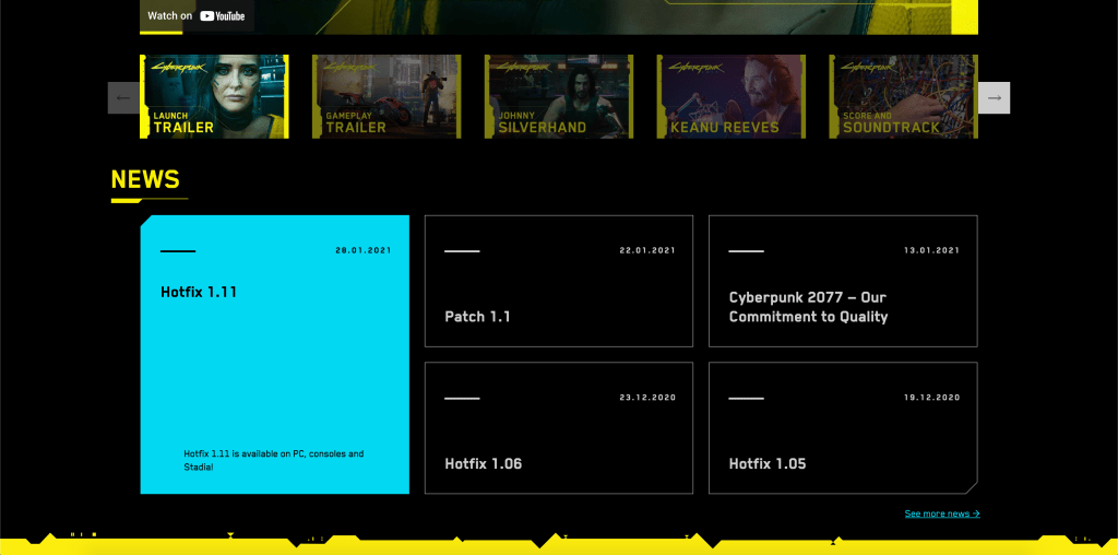 Cyberpunk UI Website Design Inspiration