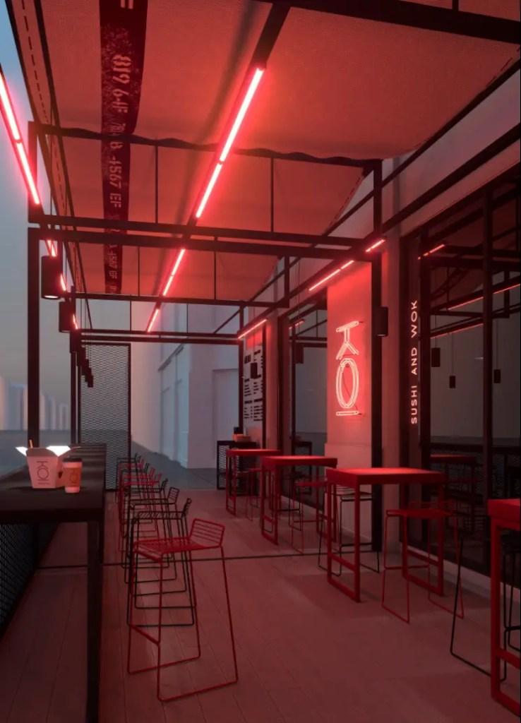 Neon Interior for Restaurants