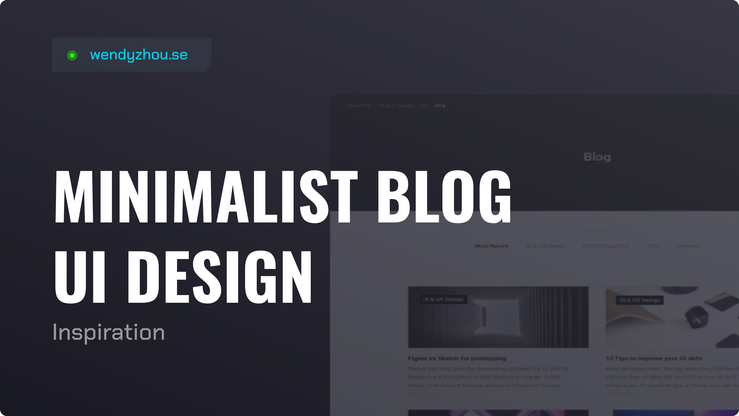 Minimalist Blog UI Design
