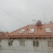 Loneliness Living Alone - Rain drops on loft apartment window