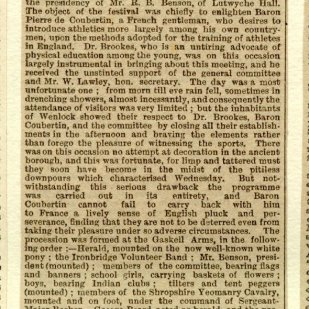 Book number 02 Page 169a Newspaper report of Autumn Festival - October 25th 1890