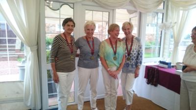 Ladies gold medalists: Ann James, Carol Bailey, Shirley Matthews and Sybil Taylor