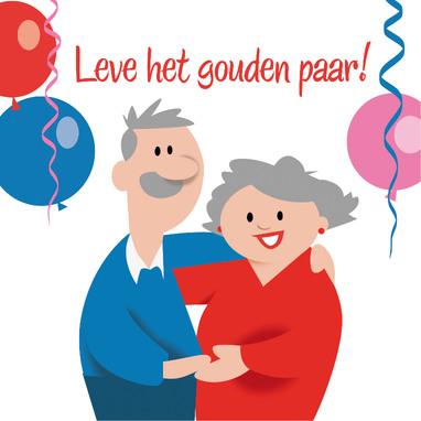 Wenskaartje 50 jaar getrouwd