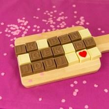 Kaartje met chocolade