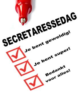 Secretaressedag kaartje