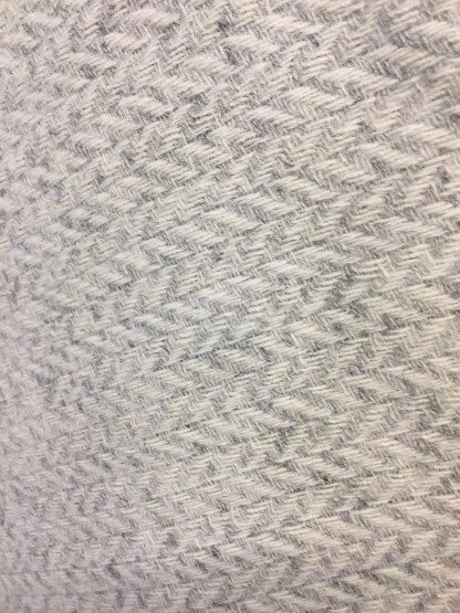 British Wool Rug- Throw Herringbone Light Grey