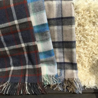 Pure Wool Travel Rugs Checked selection