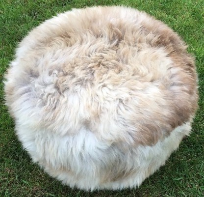 Footstool Cappuccino Sheepskin