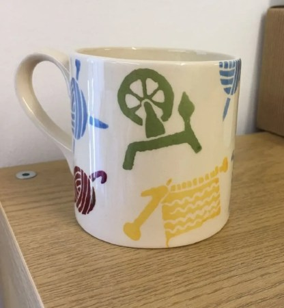Wensleydale Longwool Spinning, Knitting, Crochet Mug