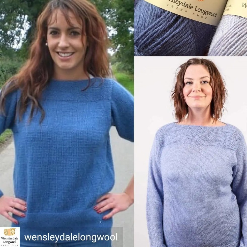 Wensleydale Longwool Walden and Danielle knitting patterns