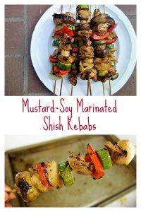 Chicken Shish Kabobs with Mustard-Soy Marinade