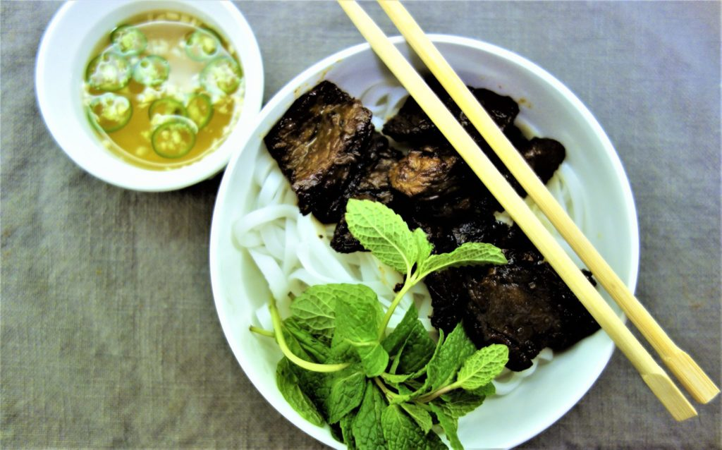 Vietnamese Seared Beef and Rice Noodles