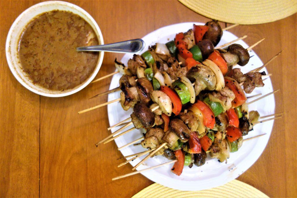 Chicken Shish Kabob with Mustard-Soy Marinade