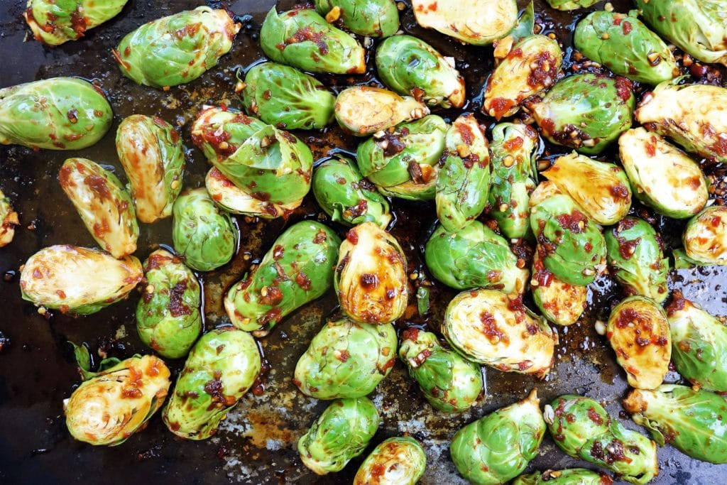 Chili Roasted Brussels Sprouts