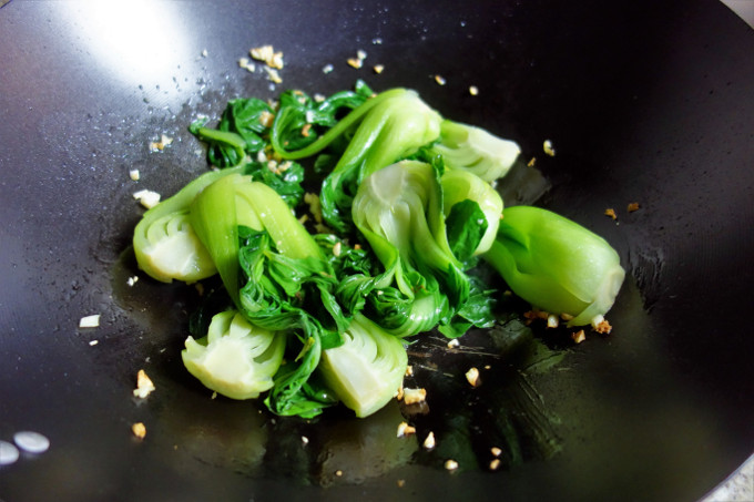 Chinese Stir Fried Bok Choy with Oyster Sauce