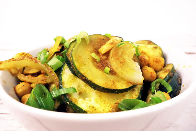 Warm Curried Zucchini and Chickpea Salad Recipe