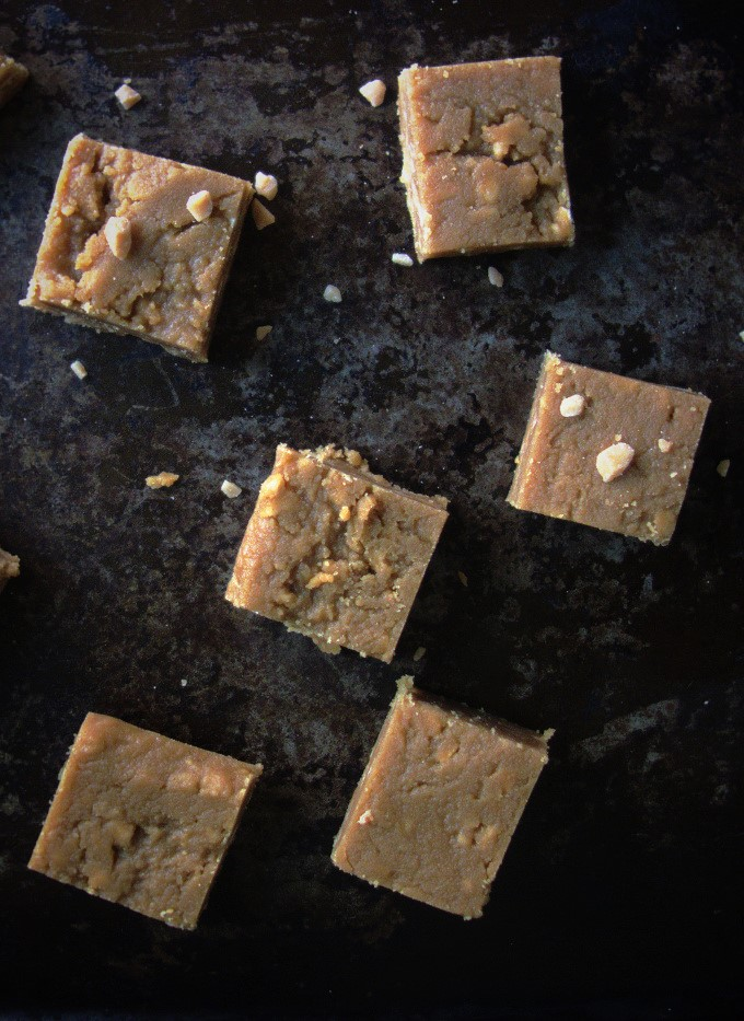 Salted Toffee Peanut Butter Fudge