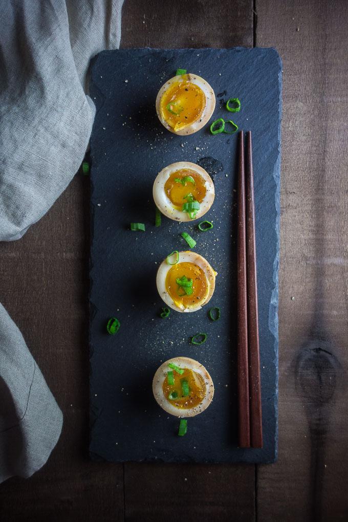 Learn how to make marinated ramen eggs