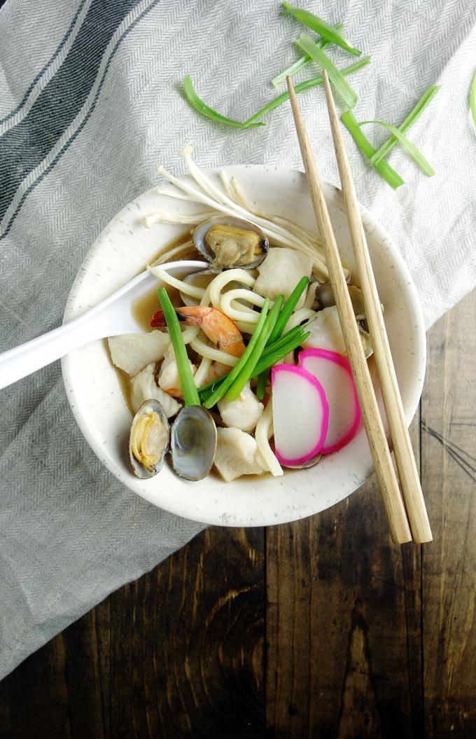 Miso Udon Seafood Noodle Soup