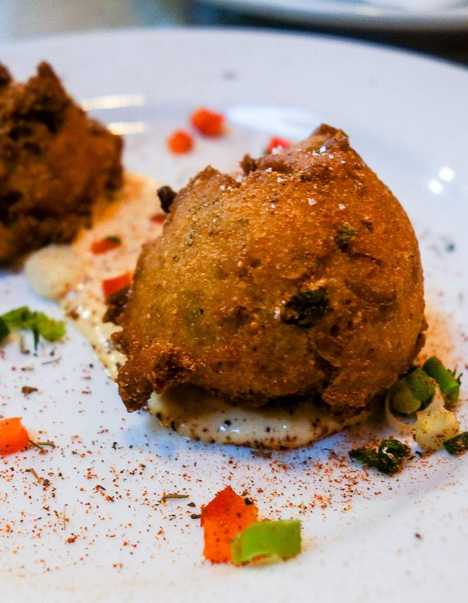 best cajun food in downtown san diego hush puppies with tartar sauce