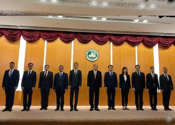 第五屆澳門特别行政區政府主要官員亮相_圖1-1