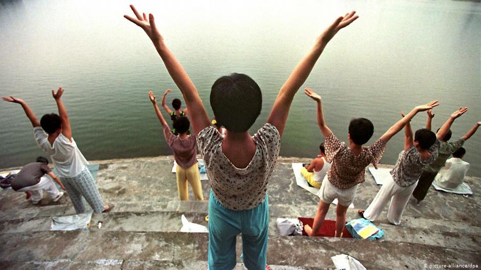 China Anhänger der Kultbewegung Falun Gong 1998