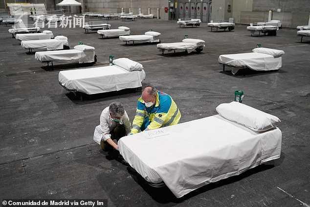 欧洲最大方舱医院开始入住:这床位间隔也太大了(图)