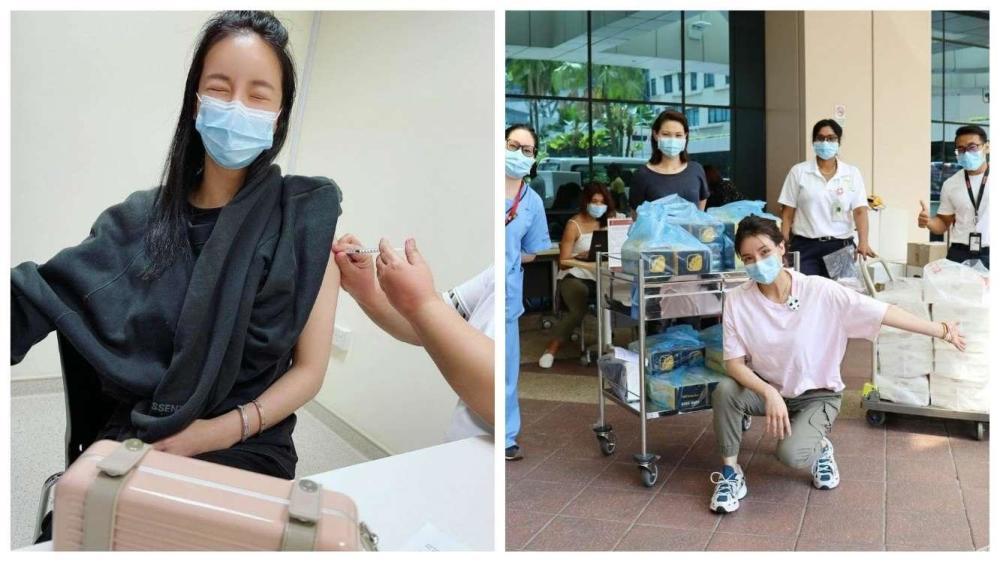 社交名媛撞脸Angelababy 被曝靠拼爹插队接种疫苗