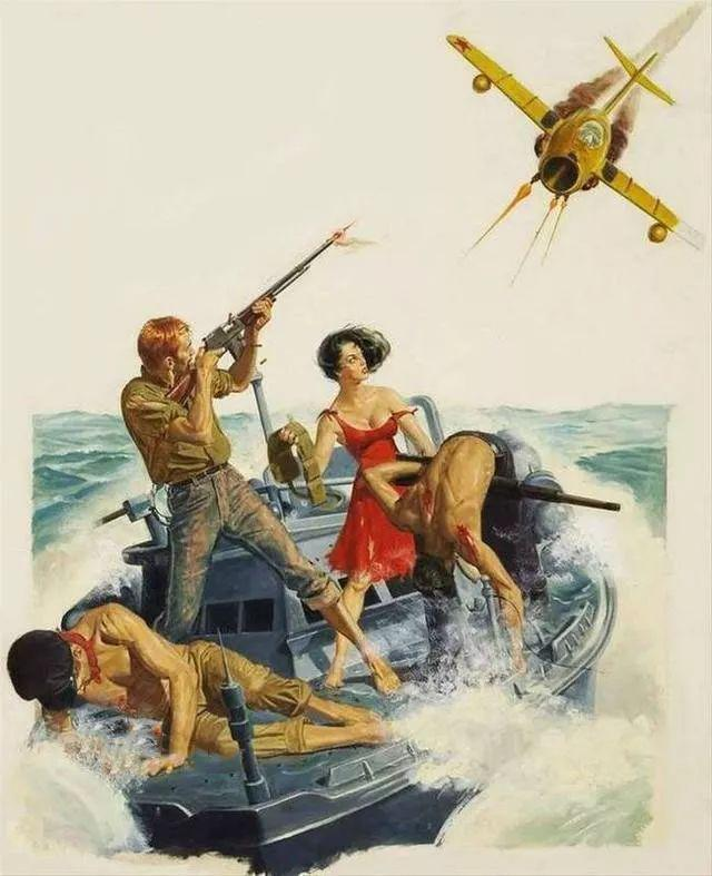 美国冷战时期宣传画 很黄很暴力 尺度太大…