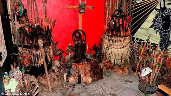 墨西哥毒贩的恐怖祭坛曝光了 看一眼头皮发麻(图)