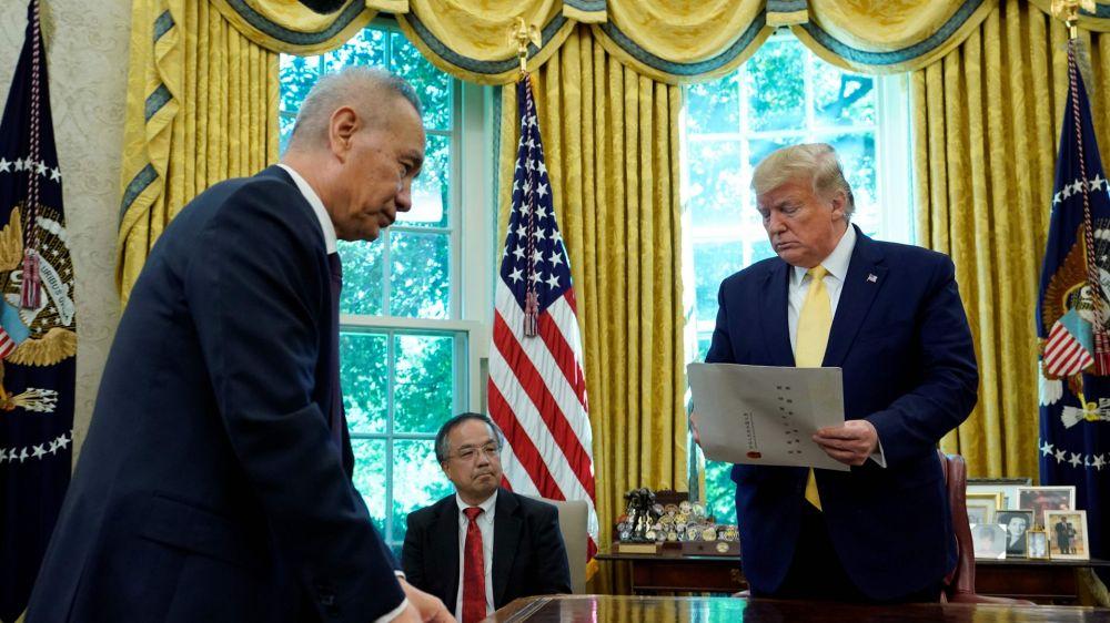 特朗普要親自上陣與劉鶴簽協議 內心暗打小算盤