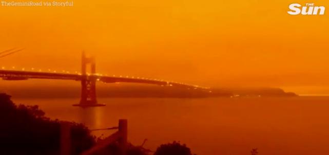 科学家证实:全因美国山火!英国惊现异常天空