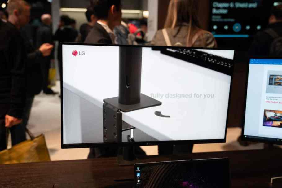 lg monitor ultrafino ergo monitor ces 2020