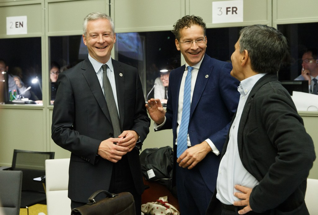 """image showing minister of France calls for Libra-like """"Eurocoin"""""""