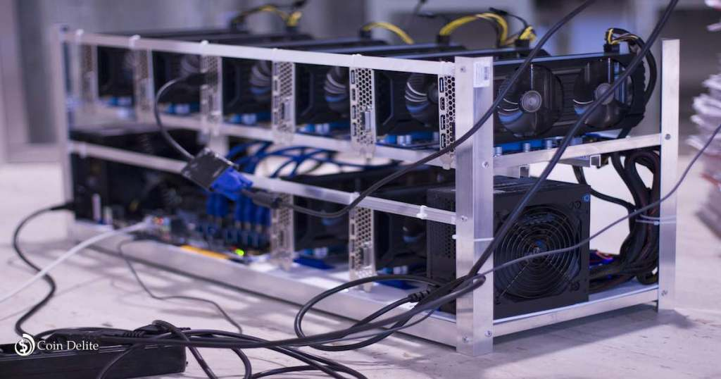 1000 mining rigs installed by DMG Blockchain Solutions