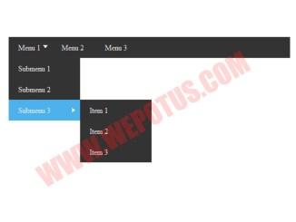 cara membuat menu dan submenu di blogspot