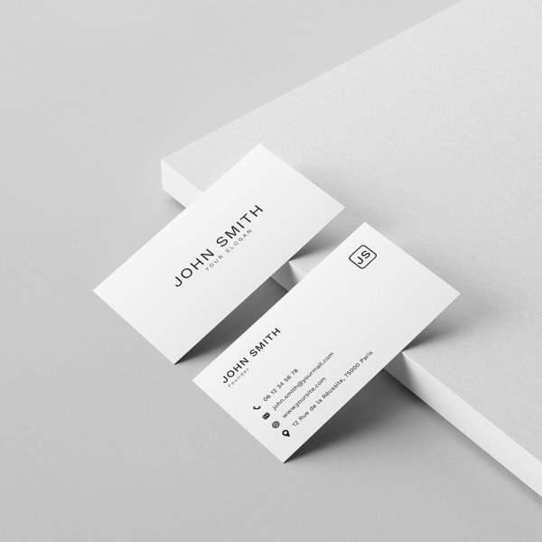 Carte de visite Less is More by WePrint (3)