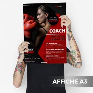 Affiche A3 Fitness Salle de sport WePrint