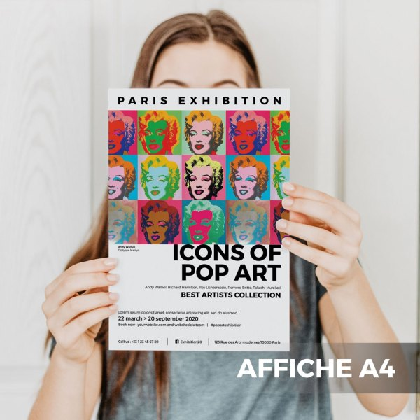 Affiche A4 Gallerie Exposition WePrint