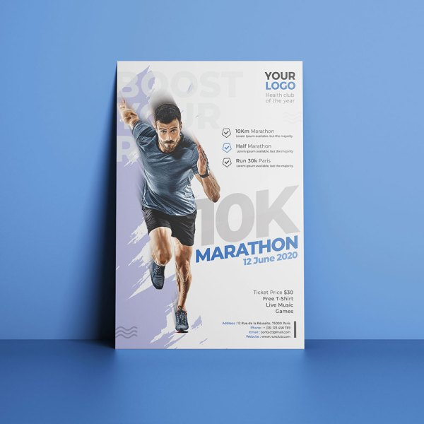 Flyer Club de Marathon et Running by WePrint