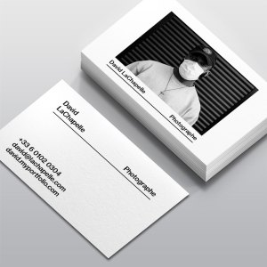 Carte de visite Photographe by WePrint
