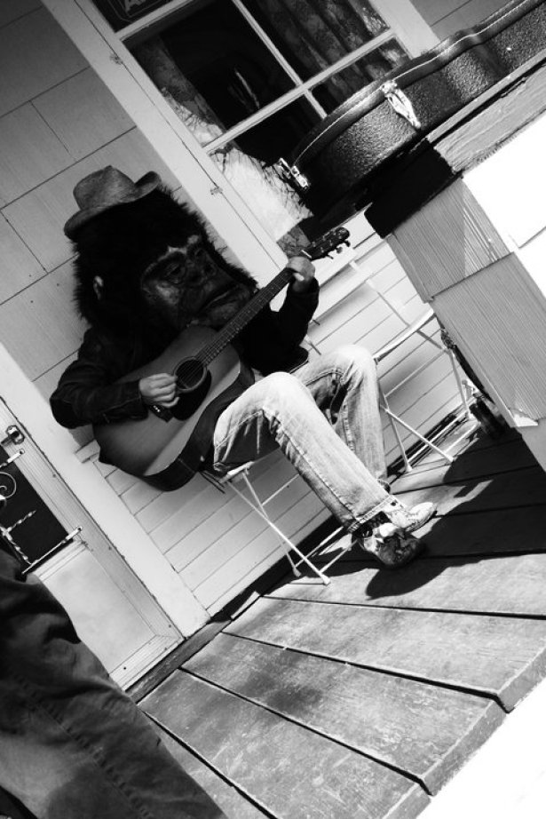 Jamming on Matt's front porch for 'Welcome to the West' - May 2010