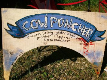 Our campsite sign at South Country Fair 2011