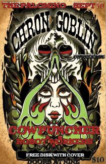 Cowpuncher supporting Chron Goblin's CD Release