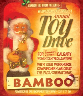 The Bamboo Tiki Room's Annual Toy Drive for the Women's Centre in Calgary - Dec 14, 2011