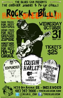 The Blues Can Rockabilly Halloween Bash! Oct31, 2012