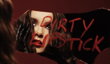 Victoria Anthony Dirty Lipstick cover art. She is holding a mirror with the words Dirty Lipstick spelled out in red lipstick