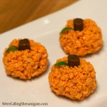 Rice Crispy Pumpkins