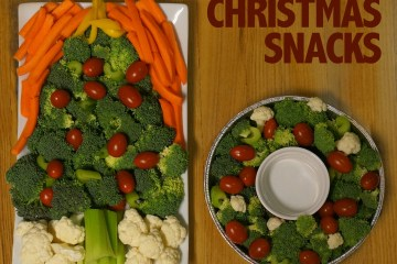 Christmas vegetable tray